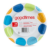 6.8in Paper Plates (18 Count)  sc 1 st  Goodtimes Brand & Goodtimes Brand \u2013 6.8in Paper Plates (18 Count)